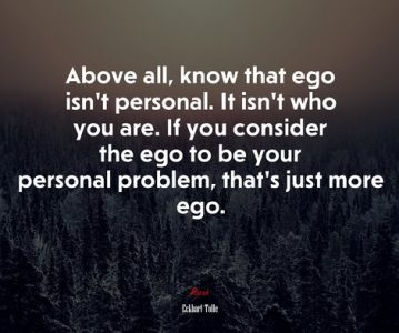 Let's talk about the ego.
